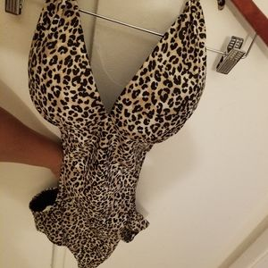 Leopard swimming suit .New doesn't have tags
